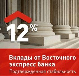 Вклады банка Восточный Экспресс