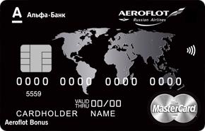 Карта Aeroflot Black Edition Альфа-Банка