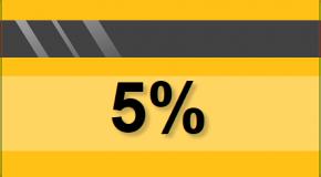 5 процентов  на остаток по счету или по карте. Как рассчитать?