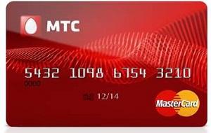 Дебетовая карта банка МТС
