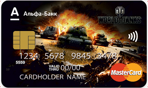 Дебетовая карта World Of Tanks Альфа-Банка