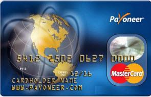Дебетовая карта Payoneer MasterCard